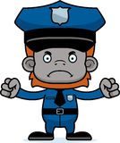 Cartoon Angry Police Officer Orangutan Royalty Free Stock Photo