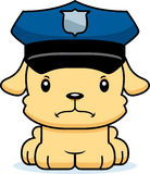Cartoon Angry Police Officer Puppy Stock Photography