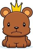 Cartoon Angry Prince Bear Royalty Free Stock Photos