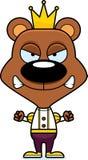 Cartoon Angry Prince Bear Royalty Free Stock Photography