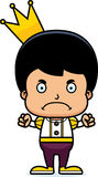 Cartoon Angry Prince Boy Royalty Free Stock Images