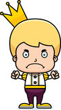 Cartoon Angry Prince Boy Royalty Free Stock Image