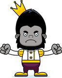 Cartoon Angry Prince Gorilla Stock Image