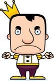 Cartoon Angry Prince Man Stock Photography