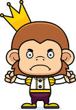 Cartoon Angry Prince Monkey Royalty Free Stock Image