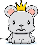 Cartoon Angry Prince Mouse Royalty Free Stock Photography