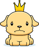 Cartoon Angry Prince Puppy Royalty Free Stock Images
