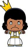 Cartoon Angry Princess Girl Stock Photo