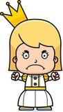 Cartoon Angry Princess Girl Stock Photography