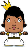 Cartoon Angry Princess Woman Stock Images
