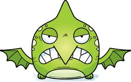 Cartoon Angry Pterodactyl. A cartoon illustration of a little pterodactyl with an angry expression Stock Photography
