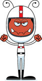 Cartoon Angry Race Car Driver Ant Stock Photo