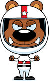 Cartoon Angry Race Car Driver Bear Stock Image