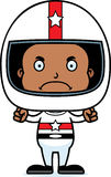 Cartoon Angry Race Car Driver Boy Stock Images