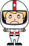 Cartoon Angry Race Car Driver Boy Stock Photography