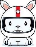 Cartoon Angry Race Car Driver Bunny Royalty Free Stock Photo