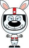 Cartoon Angry Race Car Driver Bunny Stock Photography