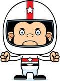 Cartoon Angry Race Car Driver Chimpanzee Stock Photos