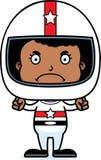 Cartoon Angry Race Car Driver Girl Royalty Free Stock Photo