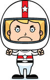 Cartoon Angry Race Car Driver Girl Royalty Free Stock Photography