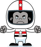 Cartoon Angry Race Car Driver Gorilla Royalty Free Stock Image