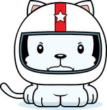 Cartoon Angry Race Car Driver Kitten Stock Image