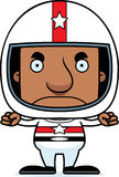 Cartoon Angry Race Car Driver Man Stock Images