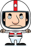 Cartoon Angry Race Car Driver Man Royalty Free Stock Image