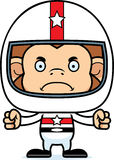 Cartoon Angry Race Car Driver Monkey Royalty Free Stock Image