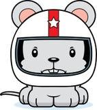 Cartoon Angry Race Car Driver Mouse Stock Photos