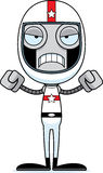 Cartoon Angry Race Car Driver Robot Royalty Free Stock Images
