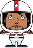 Cartoon Angry Race Car Driver Woman Royalty Free Stock Photos