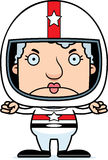 Cartoon Angry Race Car Driver Woman Royalty Free Stock Photo