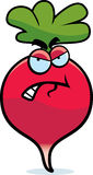 Cartoon Angry Radish Stock Image