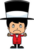 Cartoon Angry Ringmaster Boy Royalty Free Stock Photos