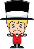 Cartoon Angry Ringmaster Boy Stock Photos
