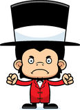 Cartoon Angry Ringmaster Chimpanzee Stock Images