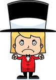 Cartoon Angry Ringmaster Girl Royalty Free Stock Photos