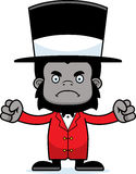 Cartoon Angry Ringmaster Gorilla Stock Image