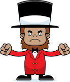 Cartoon Angry Ringmaster Sasquatch Royalty Free Stock Photo