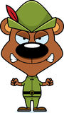 Cartoon Angry Robin Hood Bear Royalty Free Stock Photos