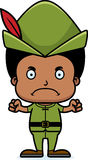 Cartoon Angry Robin Hood Boy Royalty Free Stock Image
