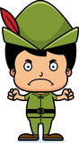 Cartoon Angry Robin Hood Boy Stock Photography