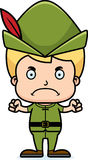 Cartoon Angry Robin Hood Boy Royalty Free Stock Image