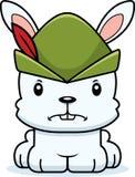 Cartoon Angry Robin Hood Bunny Royalty Free Stock Photo