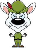 Cartoon Angry Robin Hood Bunny Royalty Free Stock Photography