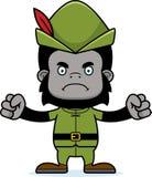 Cartoon Angry Robin Hood Gorilla Stock Images