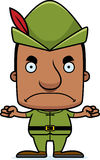 Cartoon Angry Robin Hood Man Stock Photography
