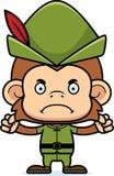 Cartoon Angry Robin Hood Monkey Stock Photography