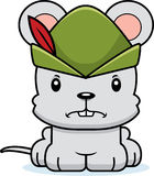 Cartoon Angry Robin Hood Mouse Stock Images